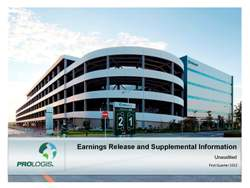 Prologis Reports 1Q13 Results