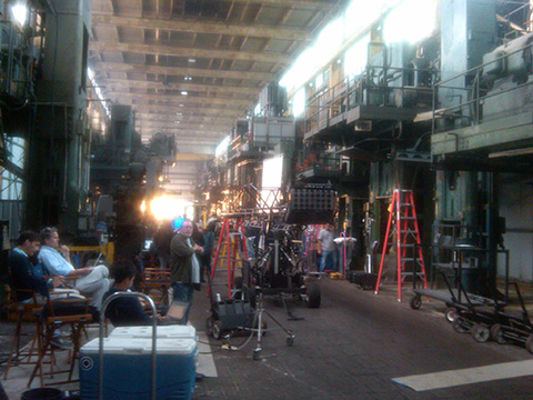 "Production scene from UPS commercial, ""That's Logistics,""  shot at Prologis Vernon Industrial Park"