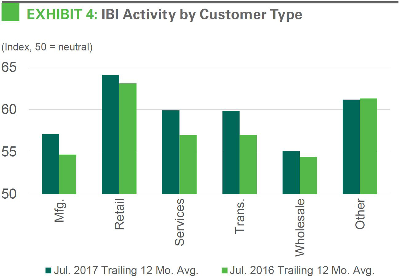 IBI Activity by Customer Type