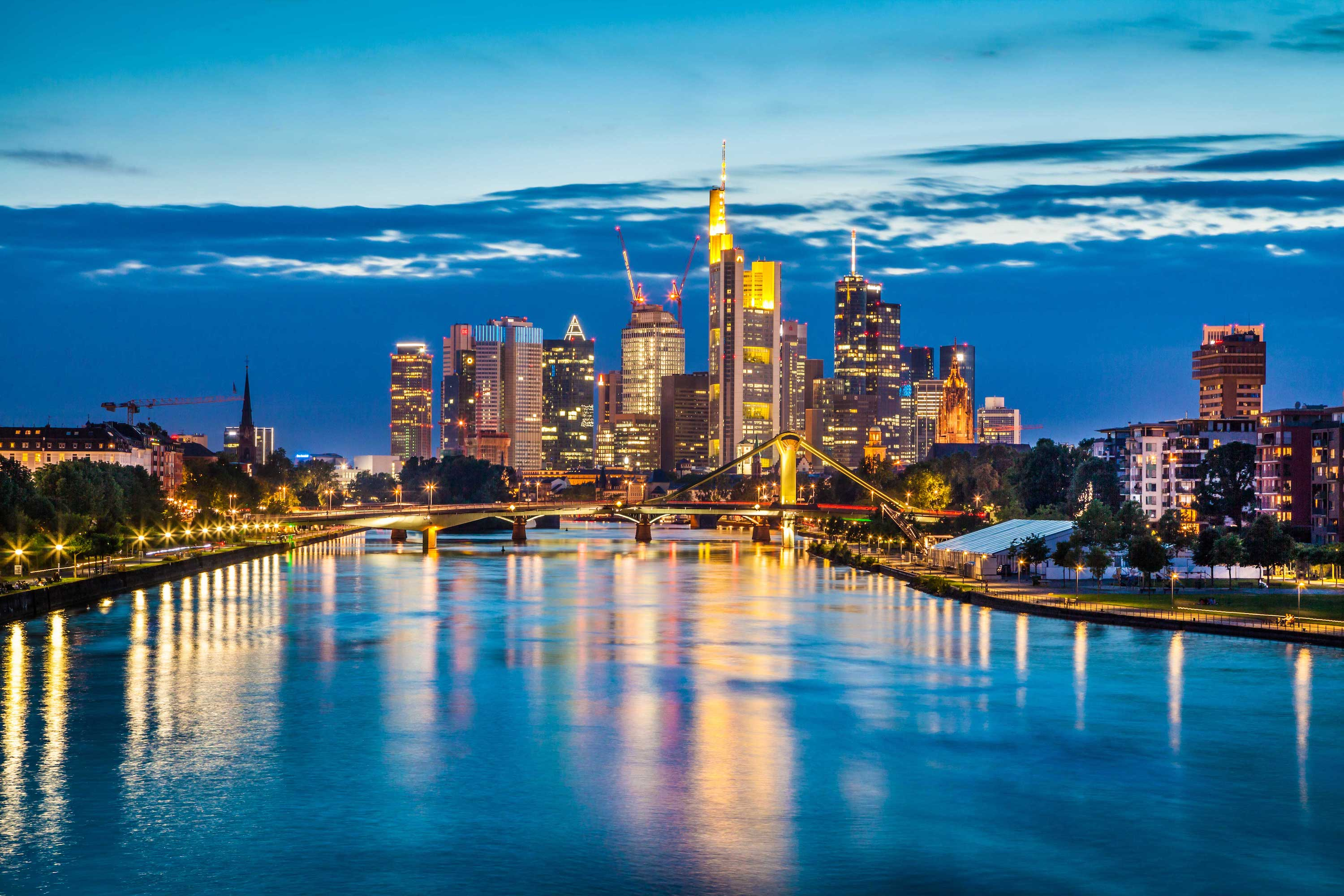 Frankfurt Am Main Trade And Business Hub Of Central