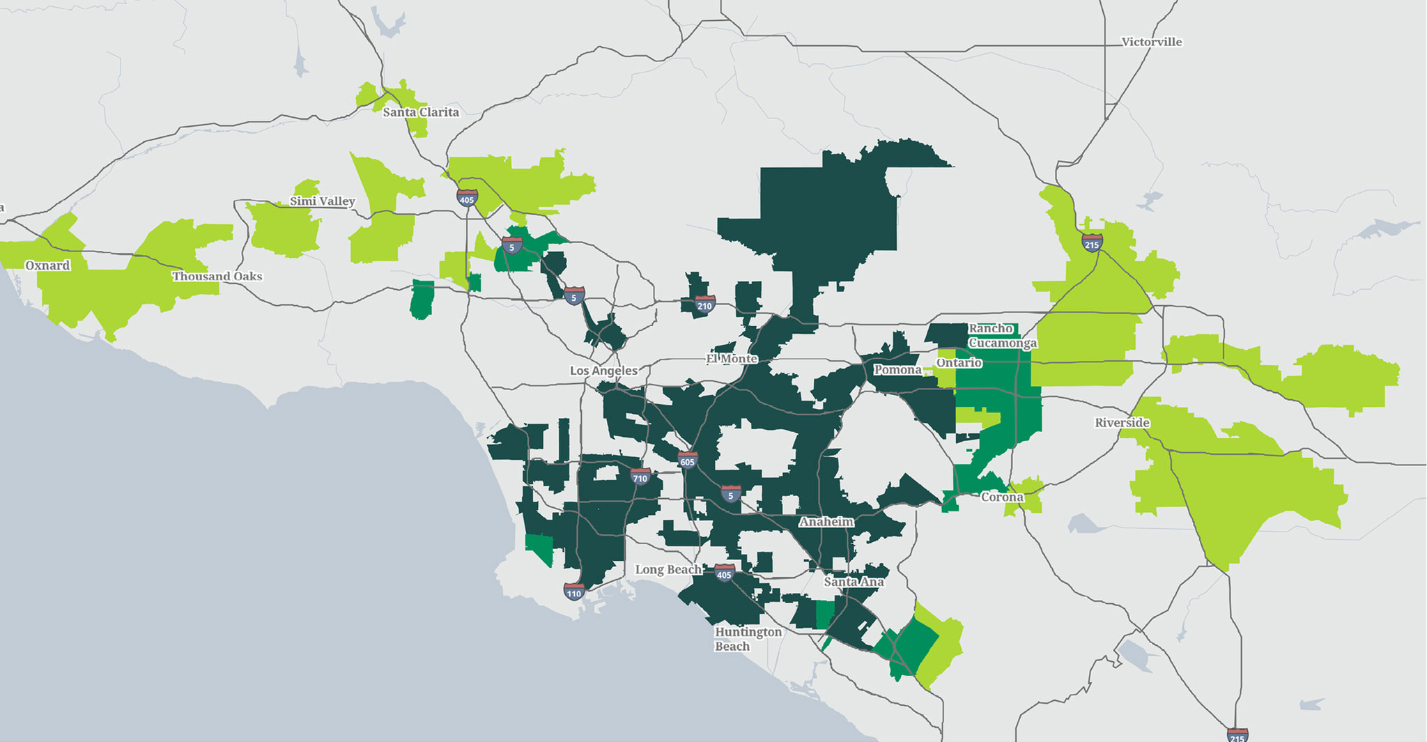 Categorization map - Southern California