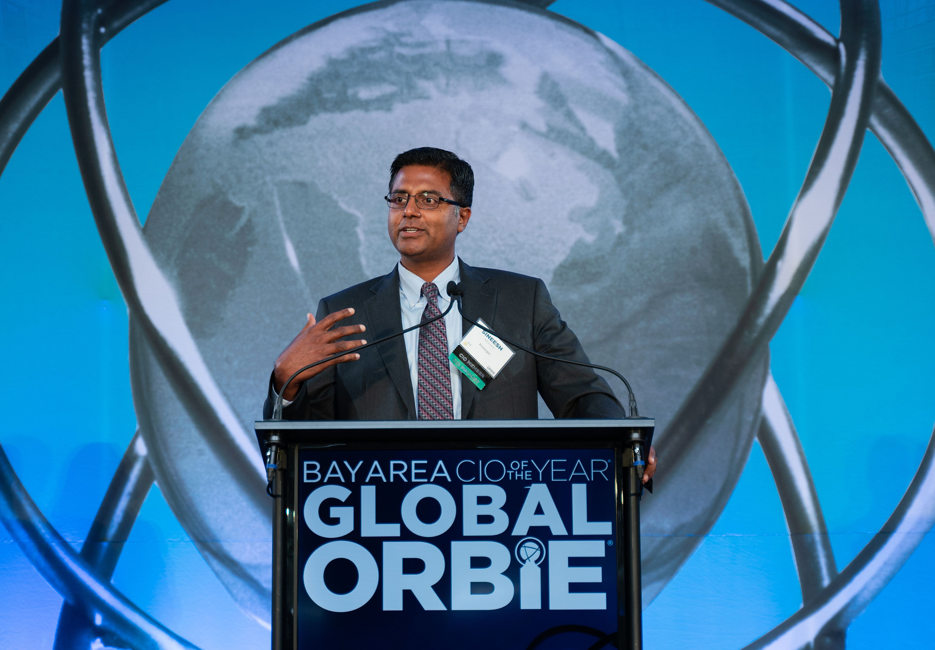 Prologis' Sineesh Keshav speaking at ORBIE